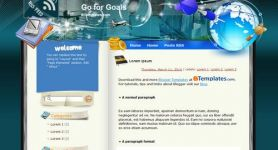 Free Blogger Theme – Go for Goals